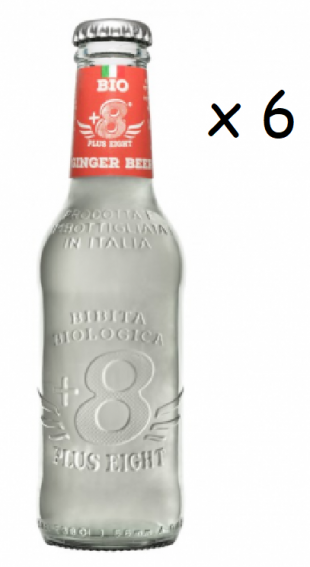 Tonics et Softs - Plus eight  ginger beer Bio 6x20cl -