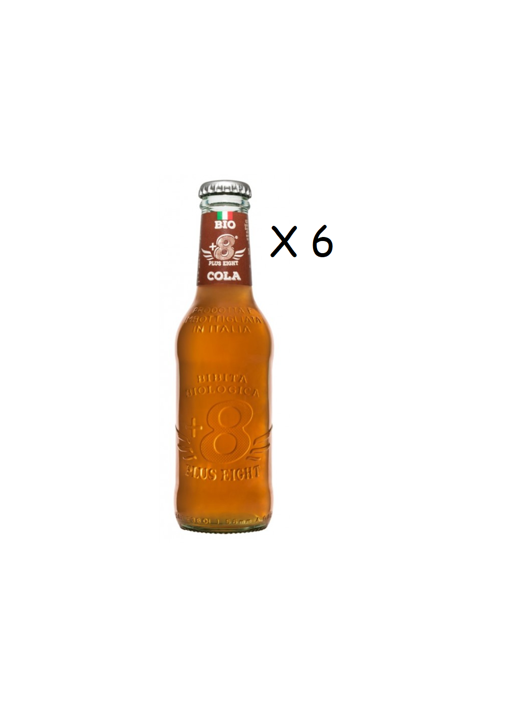Tonics et Softs - Plus eight  cola bio 6x20cl -