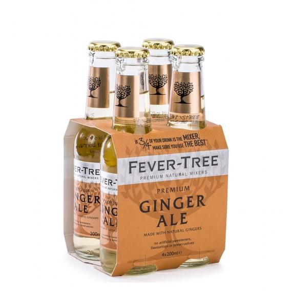 Tonics et Softs - Fever tree ginger ale pack 4x20 -