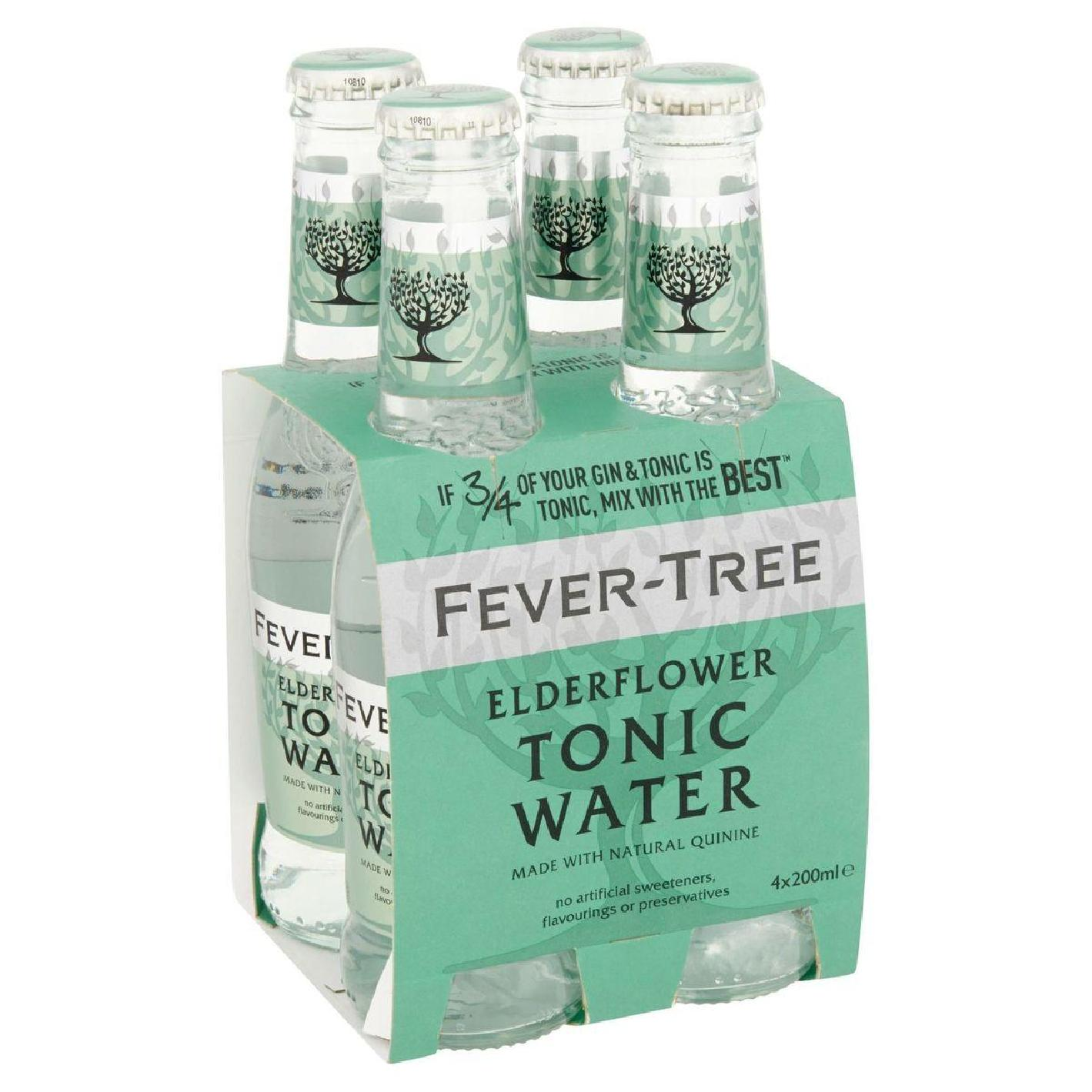 Tonics et Softs - Fever tree elderflower pack 4x20cl -